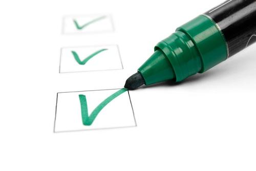 Results checklist