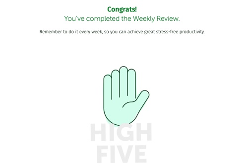 Weekly review high five