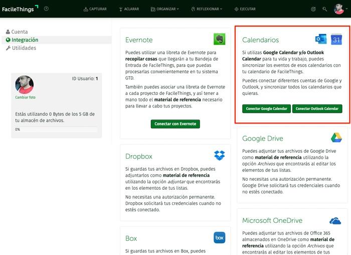 ConexiónAuentasde Calendario de Google Y Outlook