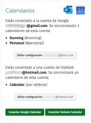 Configuracióndeuentasy calendarios
