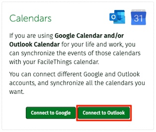 Outlook connection