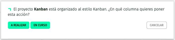 siguente acción en proyecto kanban