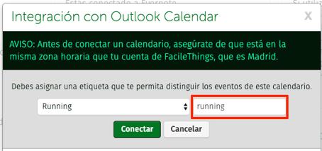 etiqueta de calendario