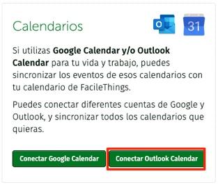 connexion con Google Calendar