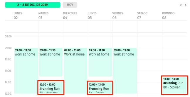 múltiples calendarios en FacileThings