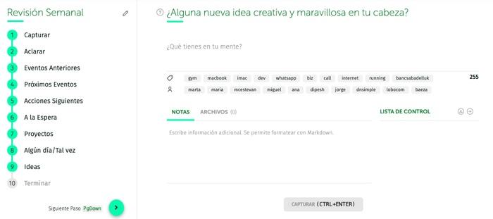 Revisión Semanal - Ideas